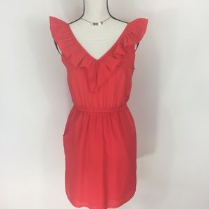 Alythea Orange Ruffle  Dress